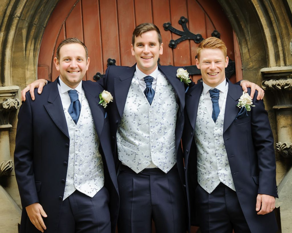 groomsmen at All saints church north hykeham