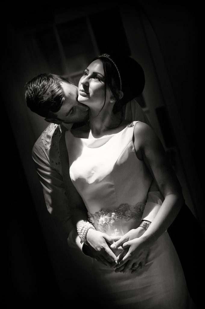 low key bridal portrait