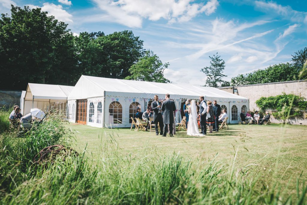 wedding marquee at scrivelsby walled garden lincolnshire