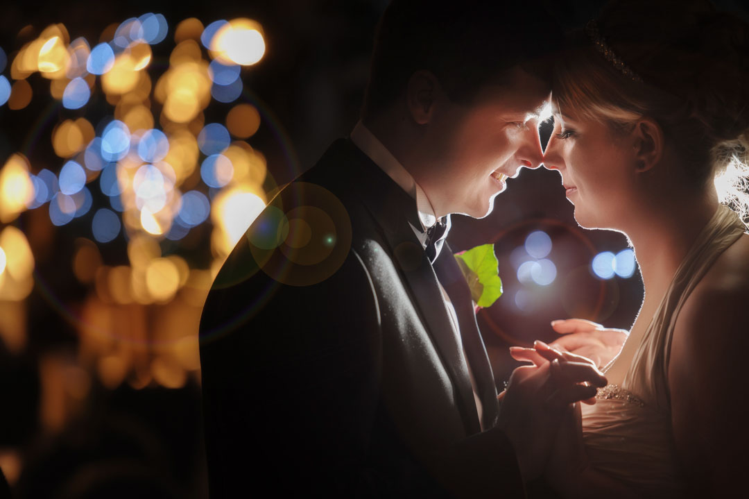 bride and groom romantic image by Grantham wedding photographer