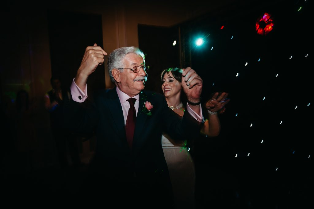 father of bride dancing at hemswell court wedding