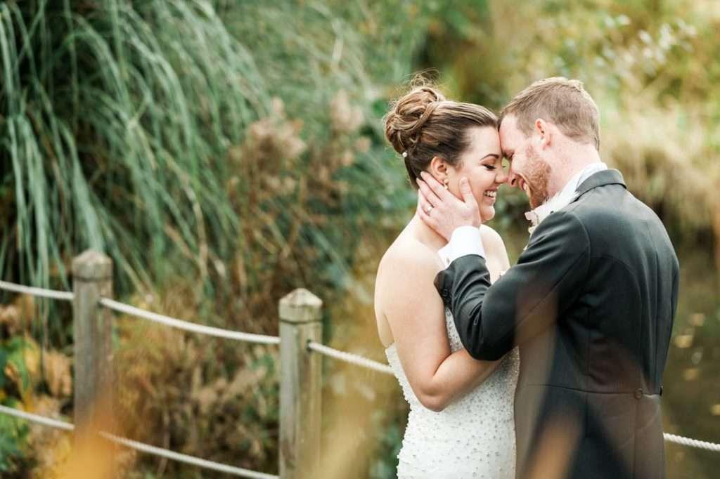 grimsby wedding photographers capture bride on bridge