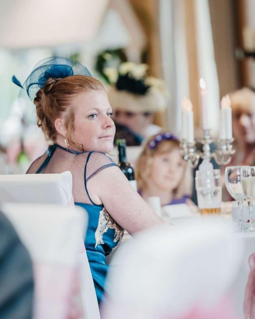 wedding guest listen to speech