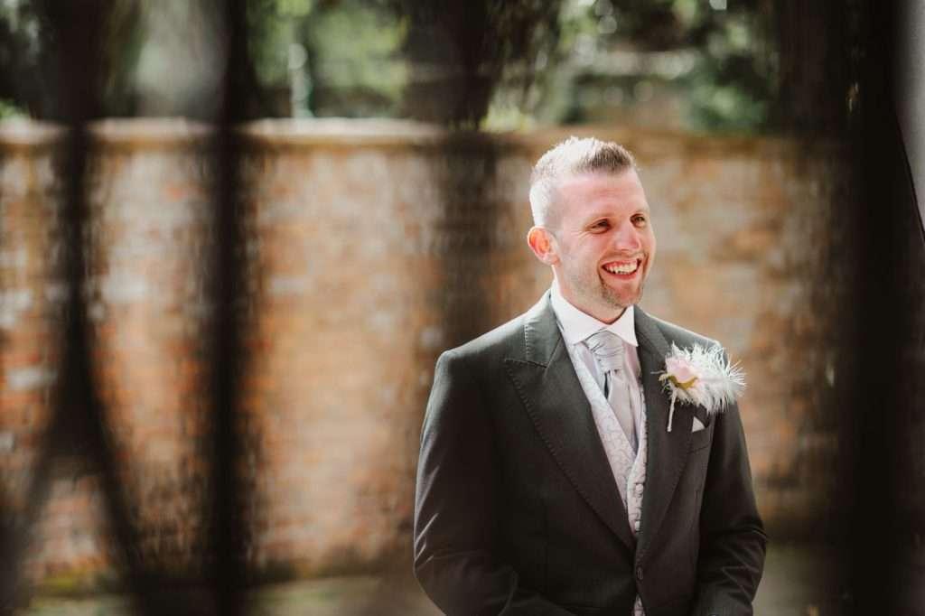 bestman outsdie grimsby church wedding