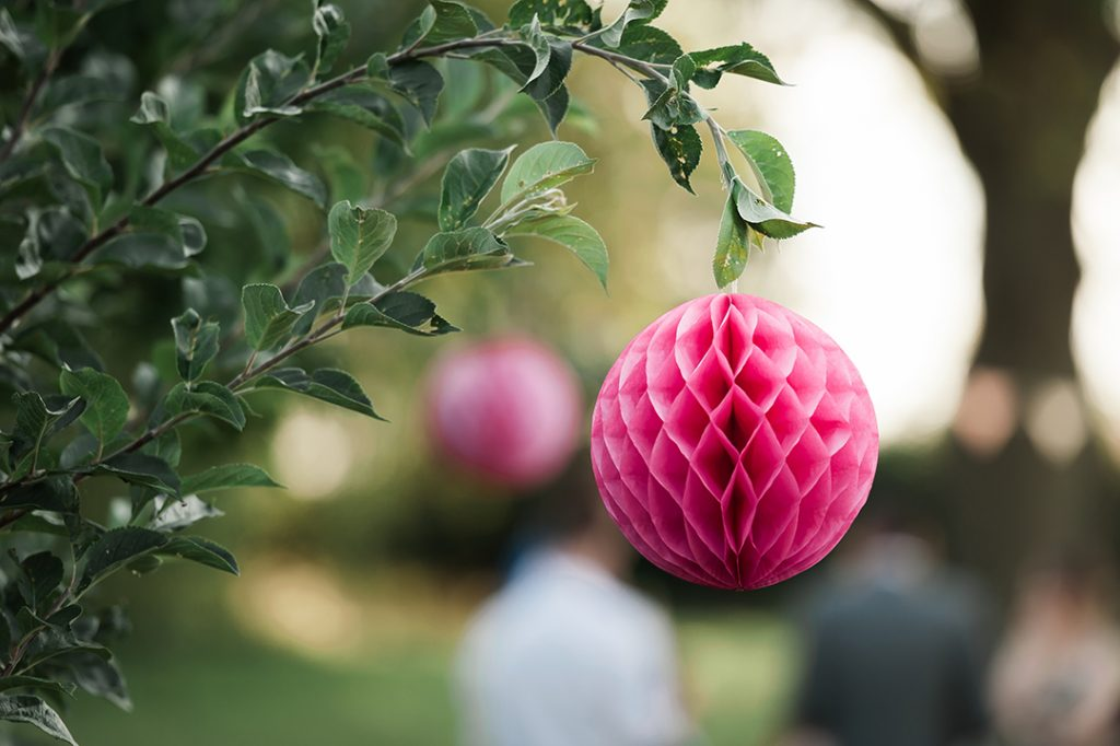 wedding decoration pink paper ball