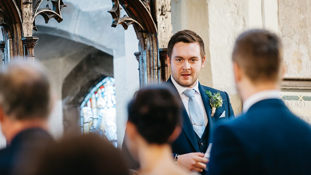 wedding speech by man