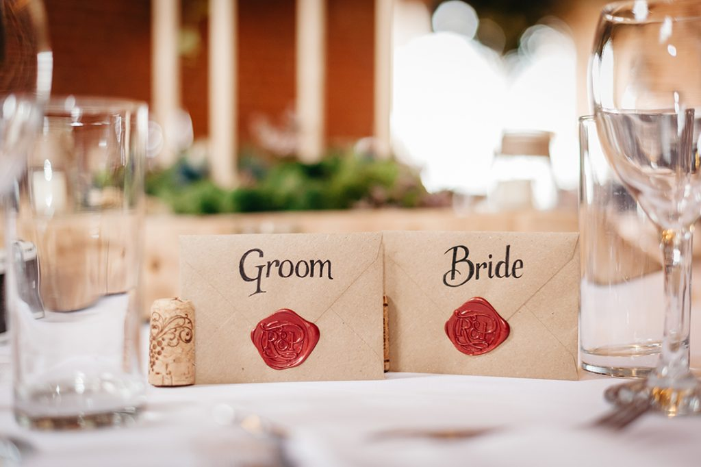 bride and groom table names