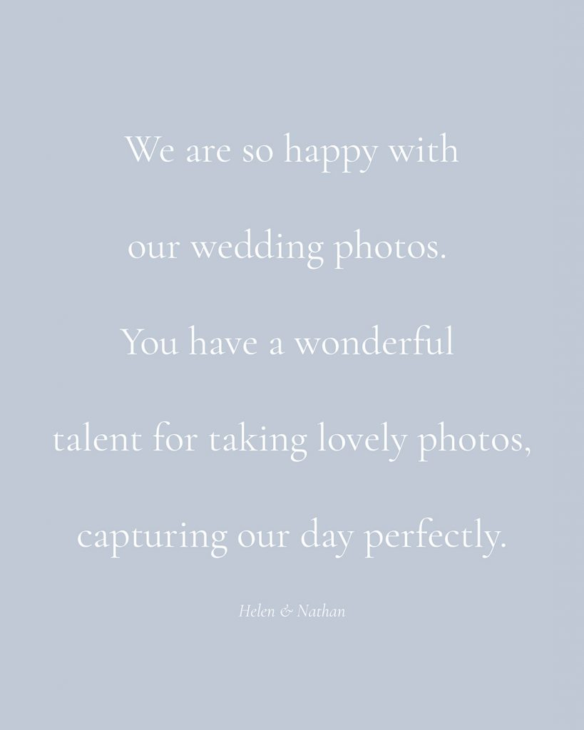 testimonial wedding quote