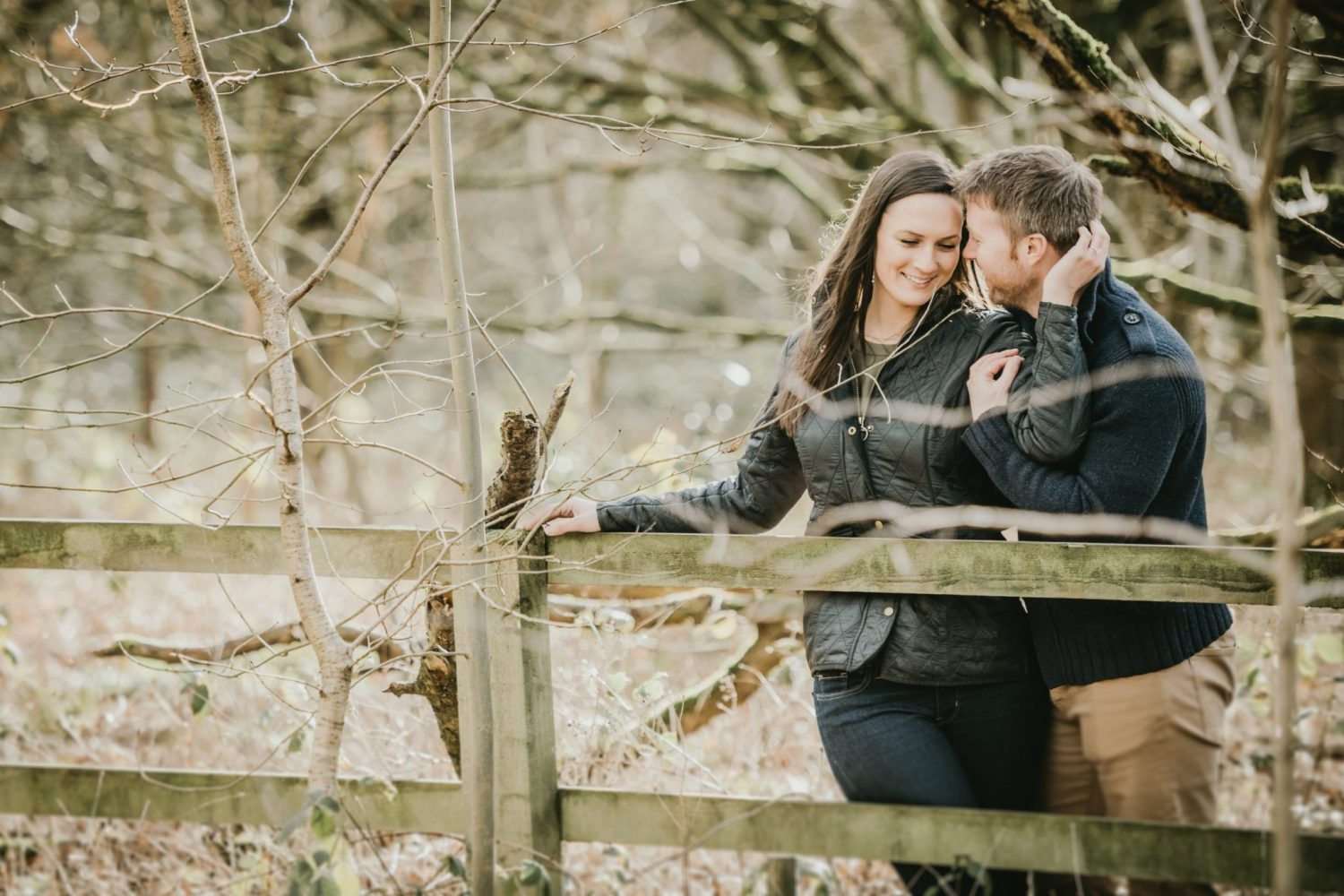 engagement photography in Lincolnshire with real wedding couple