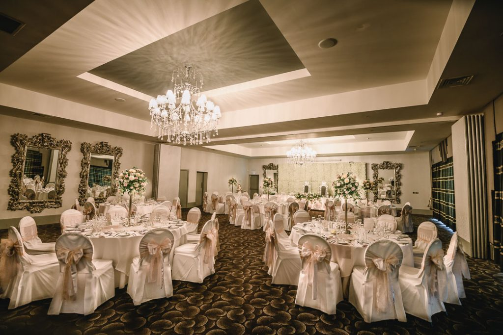 brackenborough hotel wedding tables setup
