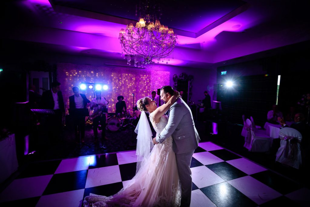 bride and groom dancing at brackenborough hotel wedding
