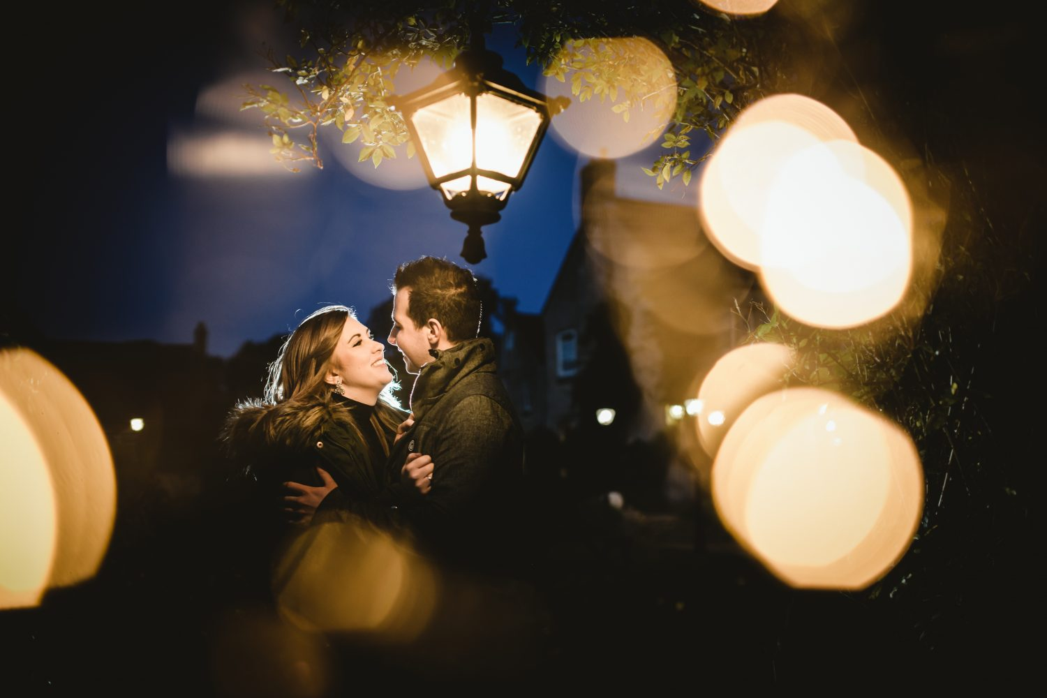 night time engagement photography lincolnshire
