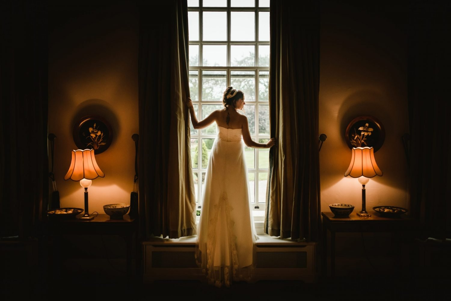 bride at hemswell court wedding