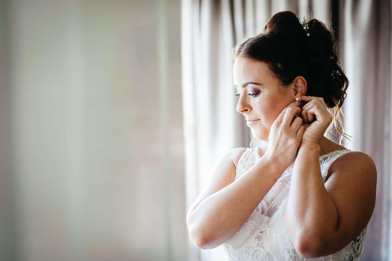 bride getting ready at dower house hotel wedding