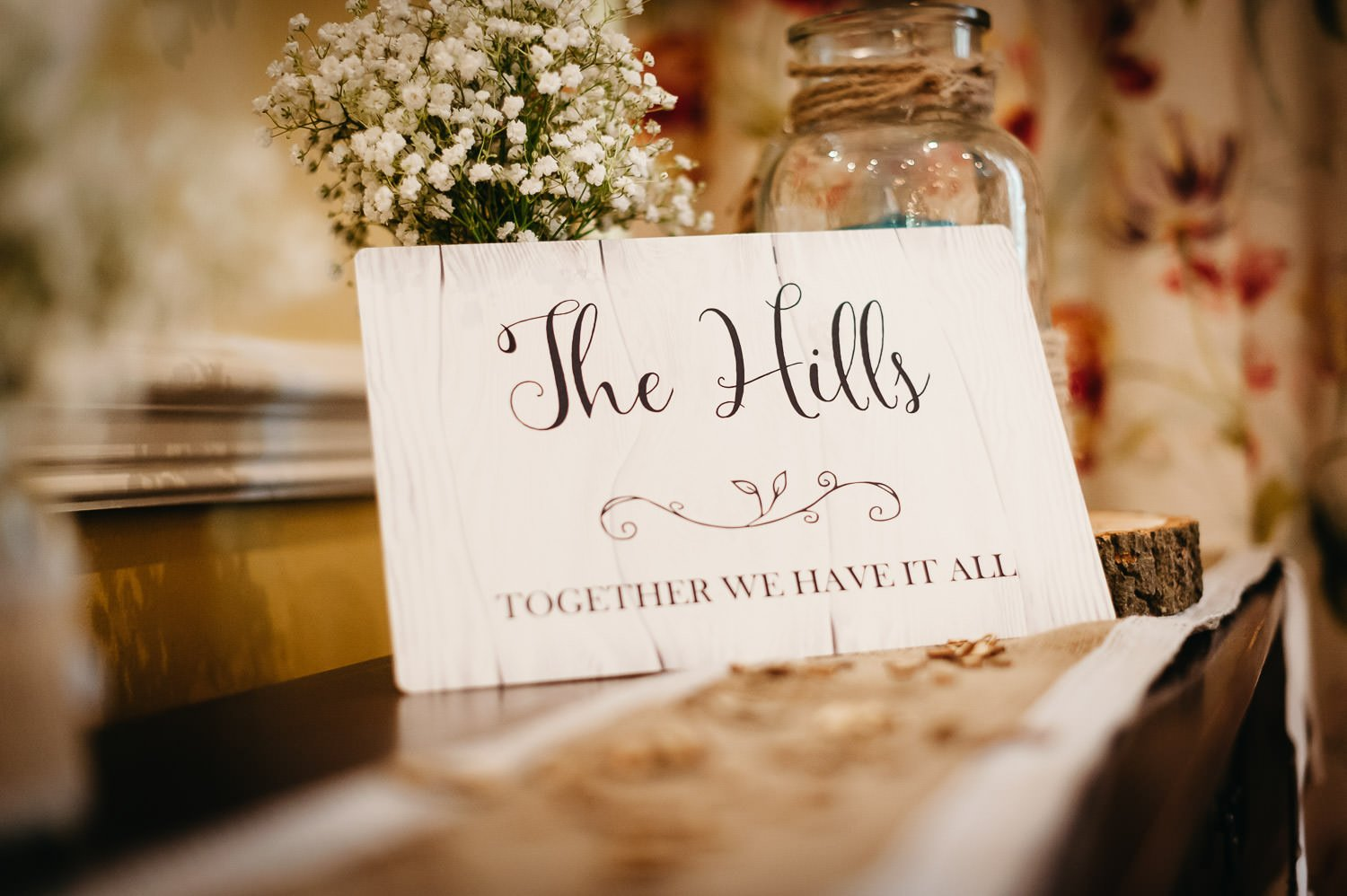 sign for a wedding