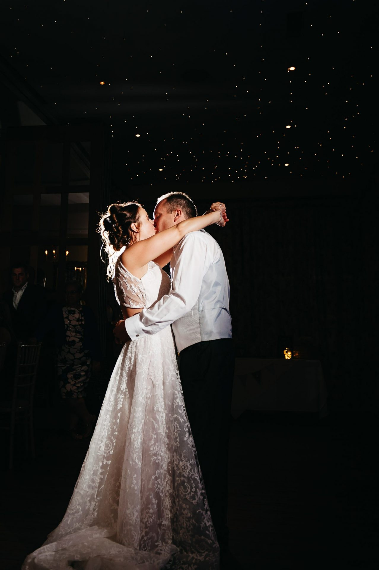 bride and groom dancing at dower house hotel wedding