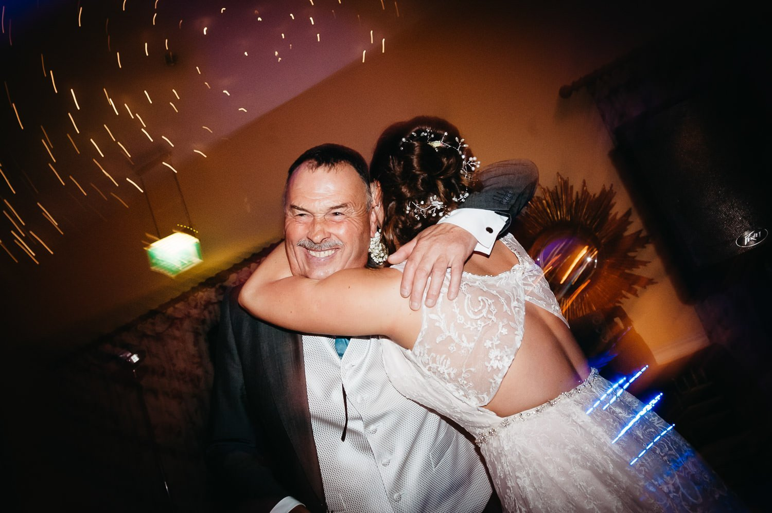 father of bride dancing at dower house hotel wedding