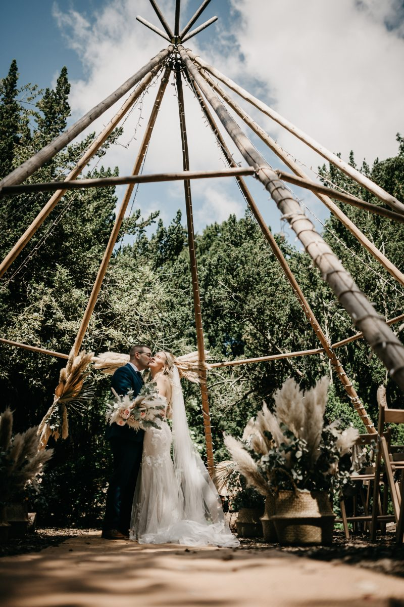 hirst priory tee pee wedding