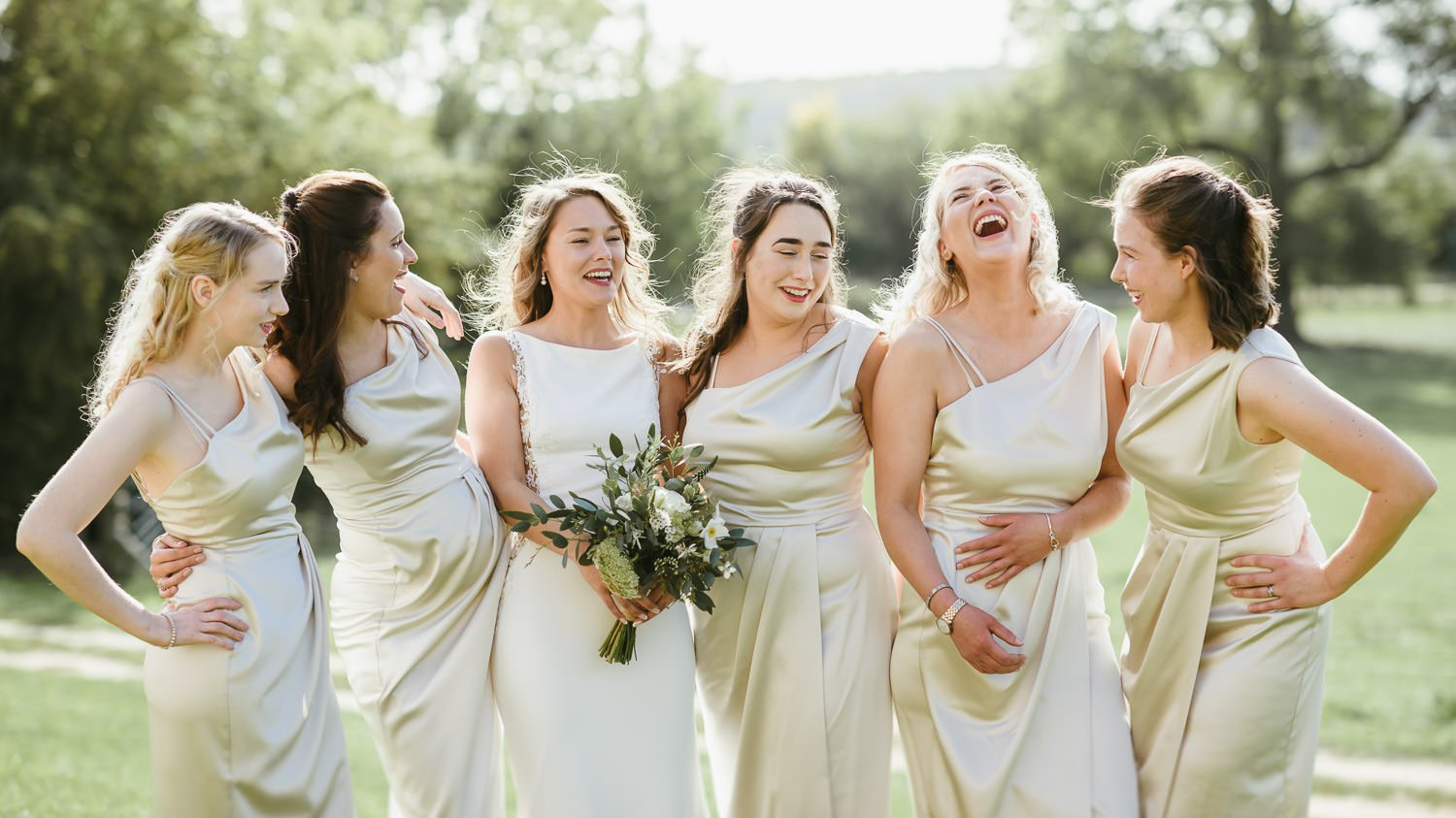 bridesmaids group at Doddington Hall wedding