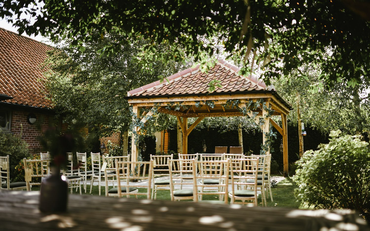Doddington Hall wedding pavilion