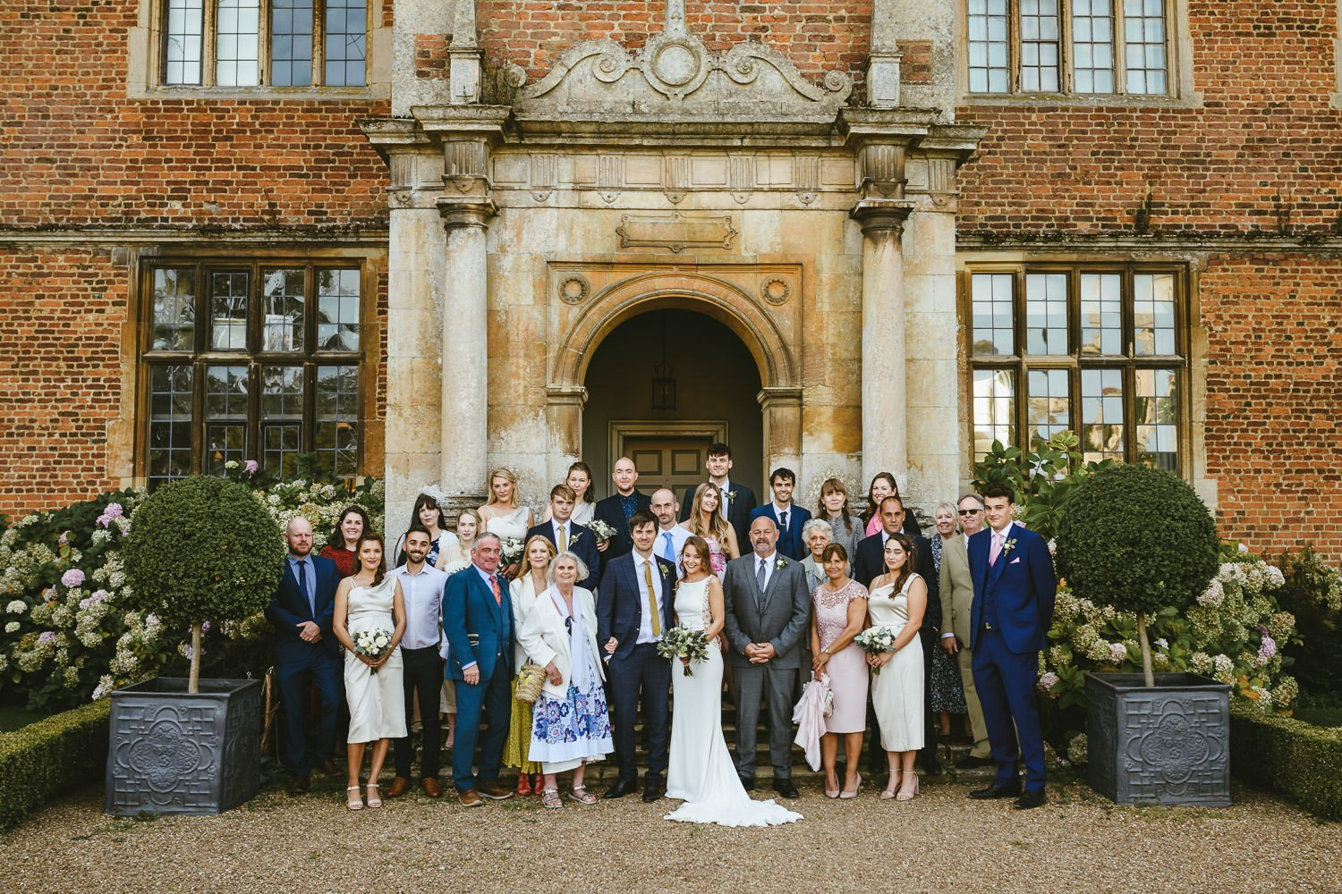 Doddington Hall wedding group photograph