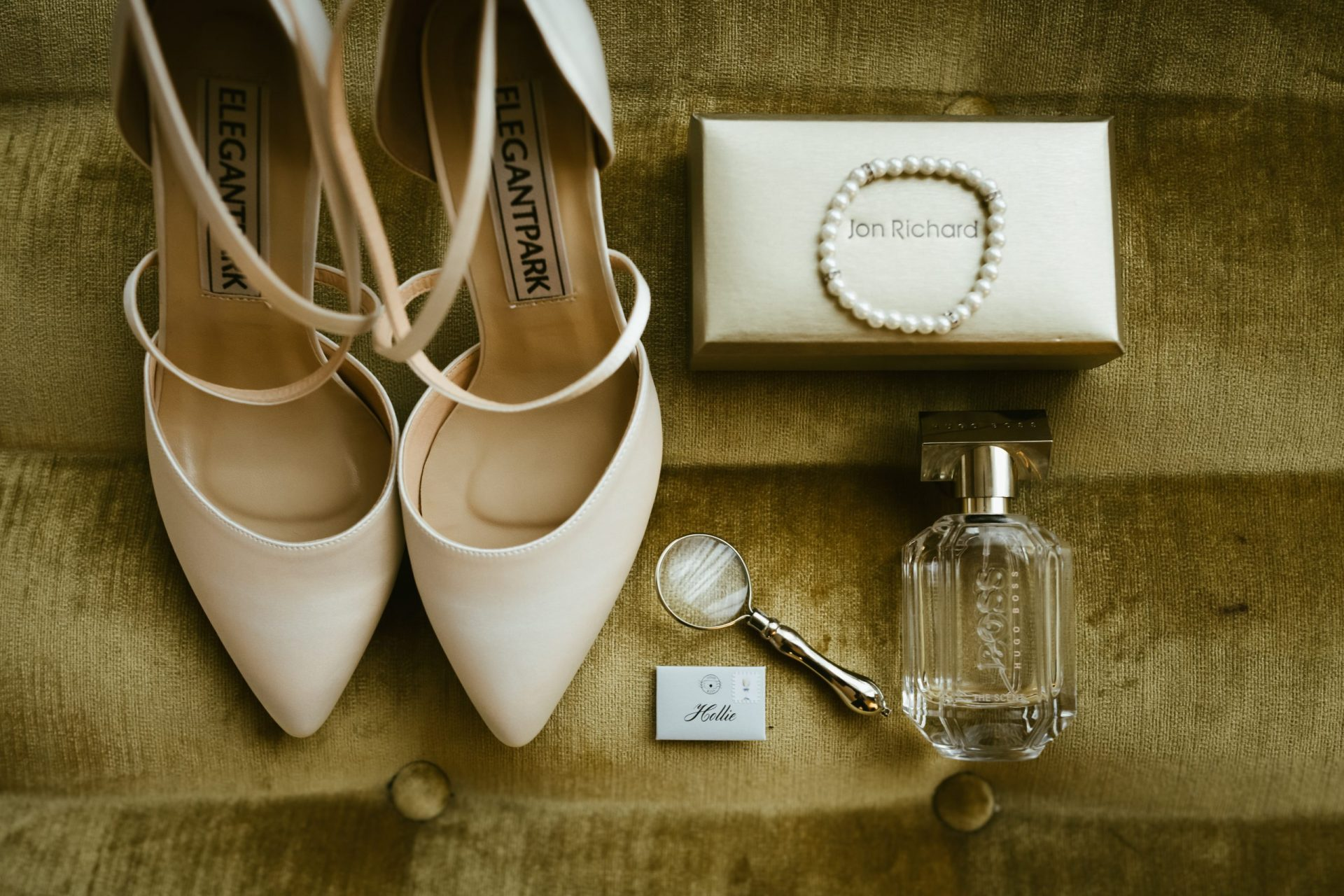 wedding photography coverage of shoes and perfume